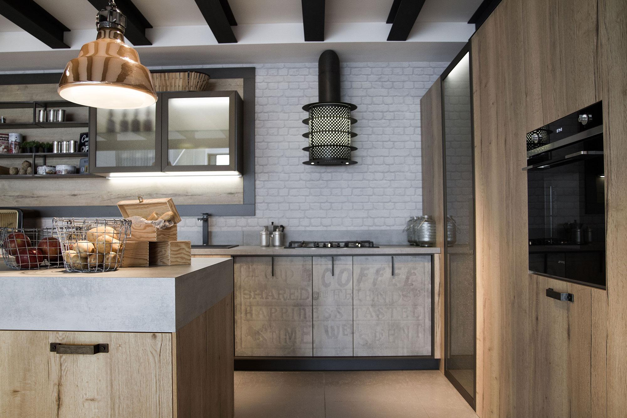 Jm cuisines loft cuisine jm cuisines cuisiniste orsay bagneux - Rivestimenti murali cucina ...